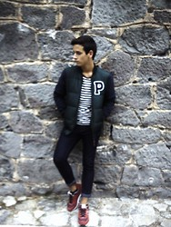 Pelayo Salor - Pull & Bear Baseballer, Zara T Shirt, Bershka Jeans, Vintage Trainers - I can't live without you
