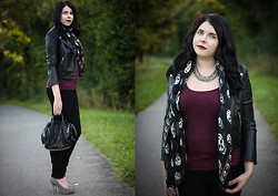 Elly E. - Alexander Mcqueen Scarf, H&M Necklace, H&M Jacket, Alexander Wang Bag, Zara Shoes, Levi's® Jeans - THE THINGS WE LOST IN THE FIRE