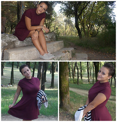 Cassie Fashion - Dorothy Perkis Red Purple Dress - My perfect day !