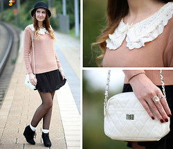Sabrina K. - Oasap Collar Sweater, Primark White Bag - I don't ask for much, because with you I have everything!