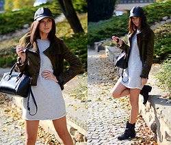 Daisyline . - Stradivarius Cap, Jacket, Dress - Fall sun