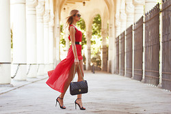 Andrea Gomez - Choies Dress - LADY IN RED