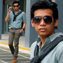 Hezron Peralta - Forever 21 Sunglasses, Forever 21 Sweater, Forever 21 Button Down - About Time