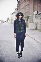 Leeloo P - Choies Coat, Cos Trousers, Choies Shoes, Wildfox Couture Sunglasses - Masculin ♥