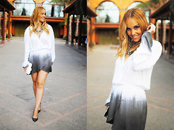 Nery Hdez - In Love With Fashion Dress, Zara Necklace, Frontrowshop Clutch, Zara Shoes - In crescendo