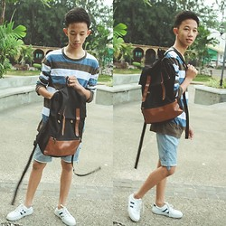 Larlo Ormoc - Baleno Sweater, 2nd Hand Bag, Bass Shorts, Shoes - A Sweet Treat