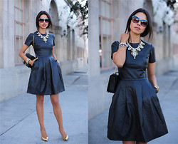 Annabelle Fleur - Iris & Ink Dress, Giuseppe Zanotti Heels, J. Crew Necklace, J. Crew Bracelet - Going Gold