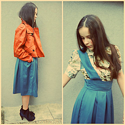 Celine S - Lena Hoschek Skirt, Burberry Jacket - Love for Retro