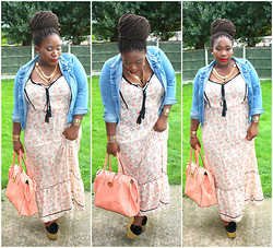 Samantha J - Peacocks Denim Jacket, River Island Dress - Peachy