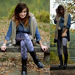 Sylka M - Leggings, Sh Jacket, Zara Shoes - Snake skin