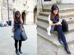 Tasnim H. - Black Bag, Fiorelli, Boohoo Dress,, Chic Wish Coat, Chicwish - Cupcakes on an Autumn Day
