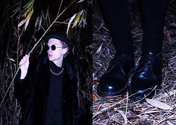 Johannes Karlsson - H&M Hat, Secondhand Fake Fur Coat, H&M Sweater, Dr. Martens Shoes - Joy Division - Shadowplay
