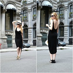 Jessica C. - Michael Stars Hat, Michael Eardley Dress - LBD