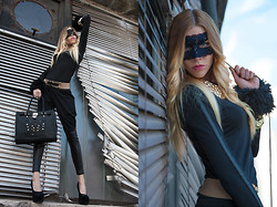 Dora D. - Nelly Leather Applique Leggings, Nelly Leather Applique Top, Orella Paris Hand Bag - AN EXTRAORDINARY ACCESSORY