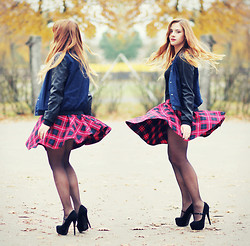 Valentine S. ☽ - Tally Weijl Jacket, Tally Weijl Tartan Skirt, Papilion Shoes - DANCING SHOES #