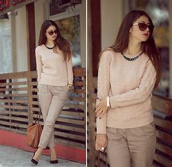 Lyuba Berlyant - New Look Pants, Parfois Bag, H&M Heels - Beige