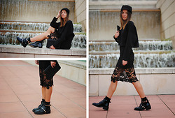 Zina CH - Miu Clutch, Balenciaga Shoes, Zara Sweater, H&M Skirt - Craving Lace