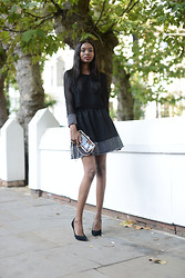 Natasha N - Forever 21 Clutch, Sister Jane Dress, Super Trash Heels - Keep it Classy