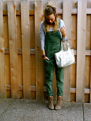 Anna Schowe - Topshop Overalls, Bcbg Boots, Tory Burch Purse - Overalls Y'all