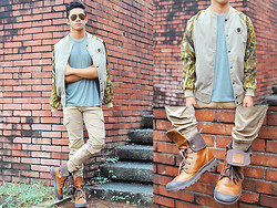 David Guison - The Man On Street Jacket, Palladium Boots, Terranova Carrot Trousers - The Wilderness