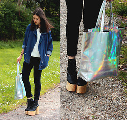 Carmen Grace - Banggood Denim Jacket - [] HOLOGRAPHIC []