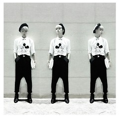 Kelbin Lei - Abdb Shirt, Kelbin Lei Pants, Jeffrey Campbell Shoes, River Island Clutch - Hello Mickey