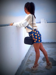 Ritika Khanna - Romwe Shorts, Westside Studded Bag - Simpson way