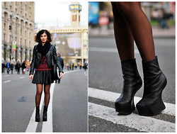 Sadi Chuiko - Bershka Leather Outerwear, Zara Bag, Jeffrey Campbell Heels - Different