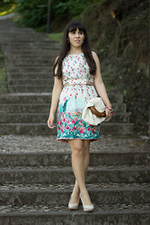 Catarine Martins - Antix Floral Dress, Mango Crochet Maxi Clutch - Princess Dress