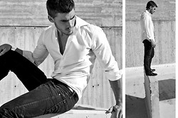 Eric M - Levi's® Black Jeans (Slim Flit), Calvin Klein White Button Up Shirt - The Feelings I Had Rearranged