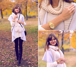 Anastasia K. - Libellulas Coat, Gemko Dress Sweater, H&M Scarf, Paolo Conte Boots, Michael Kors Bag, Michael Kors Watches, Onecklace Name Necklace - Tenderness. :)