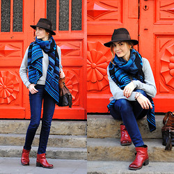 Szafa Sztywniary - Bytom Hat, H&M Scarf, Cheap Monday Sweatshirt, Nowińska Leather Bag, Lee Jeans, Fly London Boots - Cowboys and Indians