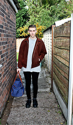 Richard M - Giorgio Armani Suede Jacket, Topman Spray On Skinny Jeans - Is anything you wear more important than what you think?