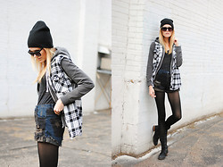 Blair B - One Teaspoon Shorts, Monki Flannel, Steve Madden Boots - Flannel roots.