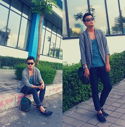 Anthony Shieh - Gap Cardigan, Topman Scoop Top, Fossil Wristwatch, Oxyge Slacks, Msense Sling Bag, Msense Wayfarers, Milanos Onyx Loafers - Let go and just be free.
