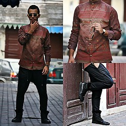 Khalil Alaoui - Vintage Shirt, Preppy Style Pants, Vintage Sunglasses, Antony Muratto Ninja Shoes - Sophisticated