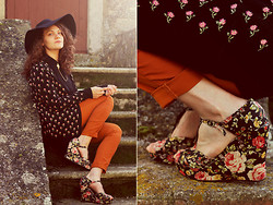Beatrice Costanzo - Accessorize Big Hat, Collar Clips, H&M Shirt, Miss Selfridge Cardigan, H&M Pants, Forever 21 Wedges - Non bisogna mai ascoltare i fiori