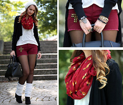 Sabrina K. - Primark Cross Shorts, Primark Fox Scarf - I know you told me I should stay away!