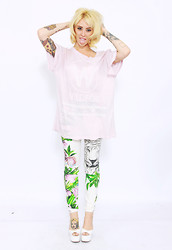 Alysha Nett - Wildfox Couture Yacht Club T Shirt, Blanknyc Pants, Jeffrey Campbell Wedges - Testing123