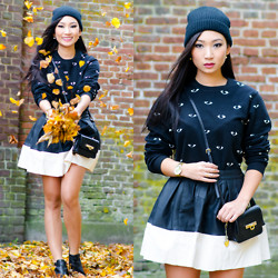Minh Nguyen - Kenzo Jumper, Dkny Purse, Chic Wish Skirt - All eyes on me