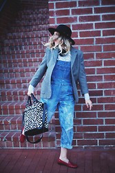 Beth Jones - Cleobella Bag, Gh Bass Candy Weejuns, Otte Hat - Annie Hall Overalls