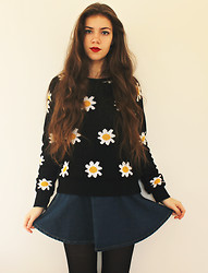 Lois H - Omg Fashion Daisy Jumper, American Apparel Circle Skirt - Nothing But Trouble ♡