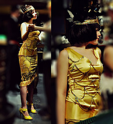 Natasha Varlamova - Diy Golden Dress - Time to dance on the 1920s party!