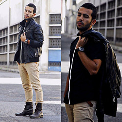 Khalil Alaoui - Vogue Jacket, Zara Jeans, P&B Boots, Zara Shirt - They Don't Know About Us,So Let Them Talk .
