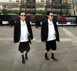 Jack PNVR - Ralph Lauren Shirt, Rick Owens Skort - Elle Bangkok Fashion Week Autumn/Winter 2013