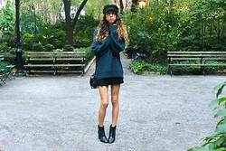 Jade Taylor-Allred - Massimo Dutti Boots, American Apparel Skirt, Zara Sweater, Alexander Wang Cross Body Bag, H&M Newsboy Cap - Change of Season