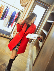 Wendy Wong - Beahappygirl Coat - Red Coat