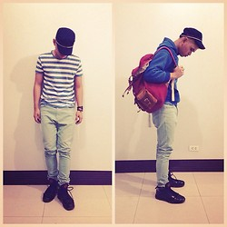 Judyson Dumapias - Penshoppe Cap, Penshoppe Nautical Tshirt, Gap Jacket, Flying Dutchman Racksack, Flying Dutchman Pants - Sail on, sail on!