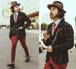 Denny Balmaceda - Uniqlo Plaid Blazer, Bally Loafers, Club Monaco Corduroy - THE RUM DIARIES.