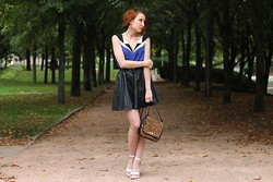 Slanelle L. - Emy Rigeot Top For Mon Defilé, H&M Faux Leather Skirt, Fossil Leopard Bag, La Redoute Shoes - Sailor Moon